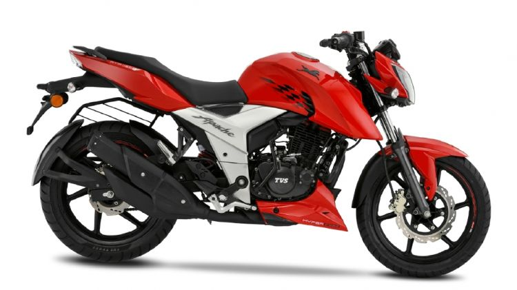 TVS Apache RTR 160 4V Red Colour