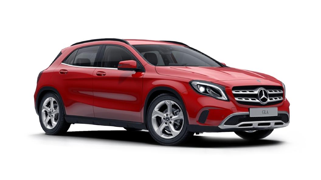 Mercedes Benz  GLA Jupiter Red Colour
