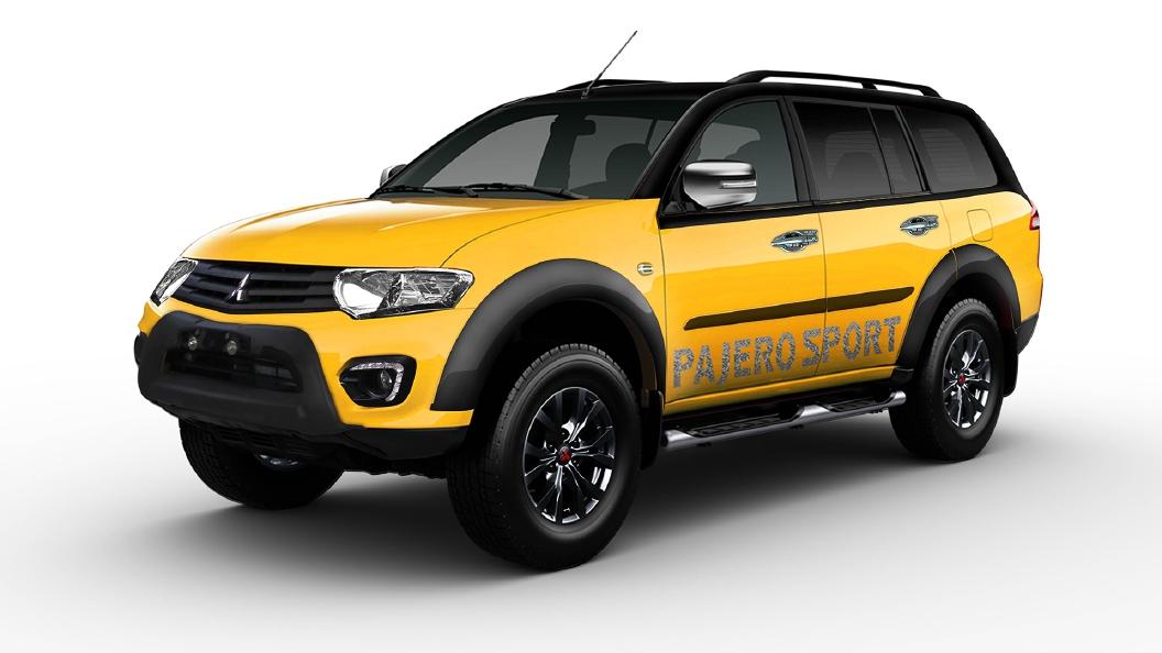 Mitsubishi  Pajero Sport Black / Yellow Colour