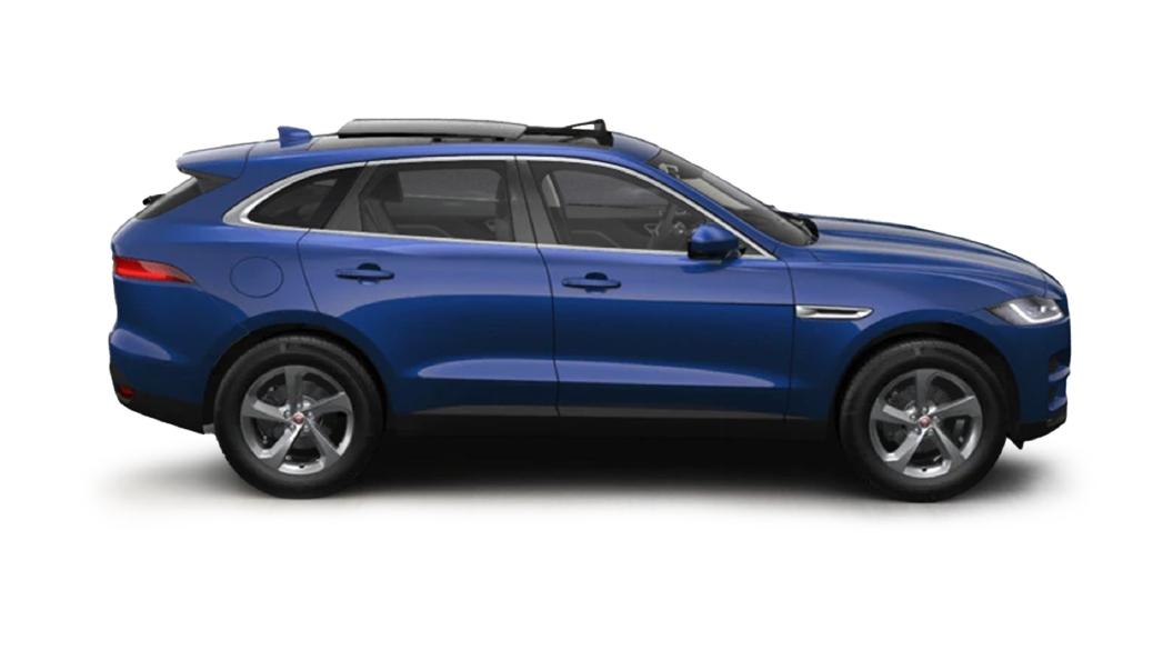 Jaguar  F-Pace Caesium Blue Colour