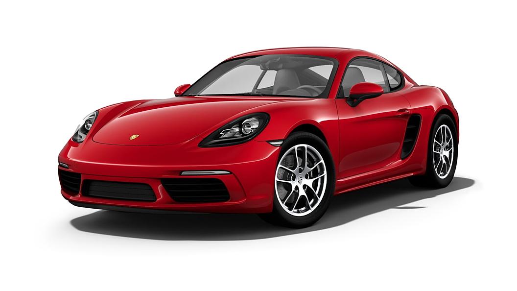 പോർഷ  718 Carmine Red Colour