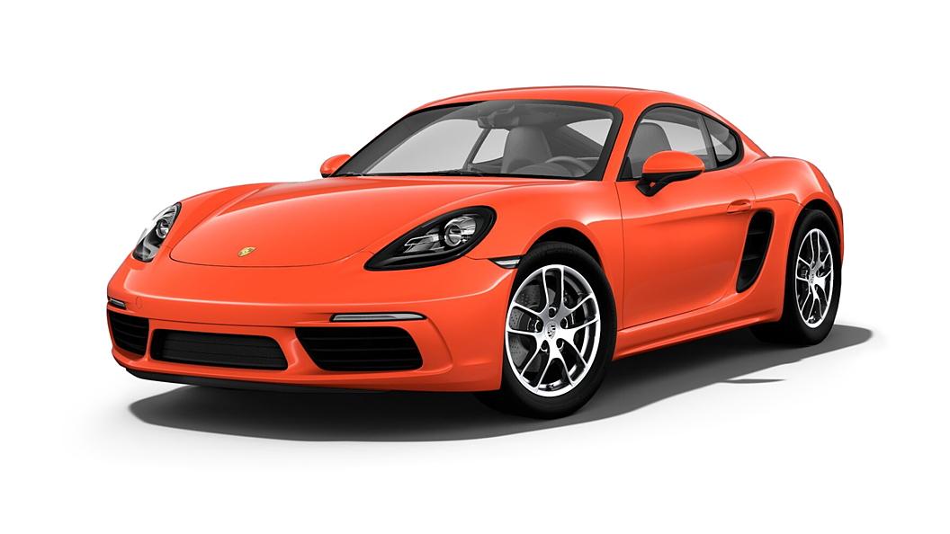 പോർഷ  718 Lava Orange Colour