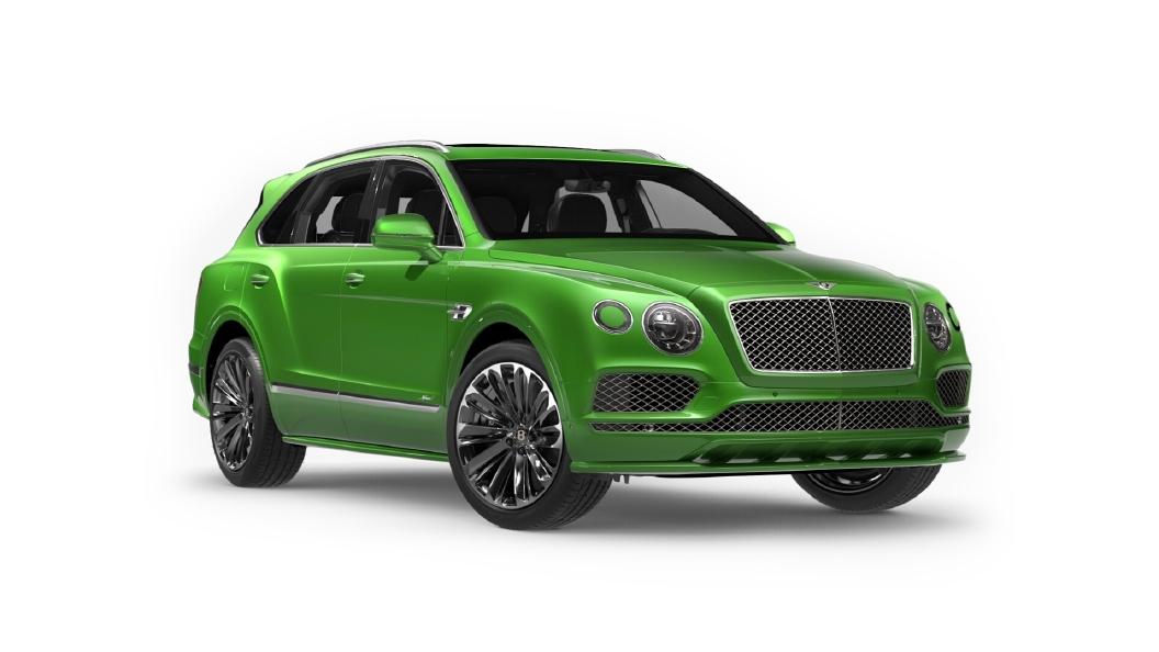 Bentley  Bentayga Apple Green Colour