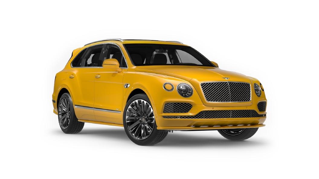Bentley  Bentayga Monaco Yellow Colour