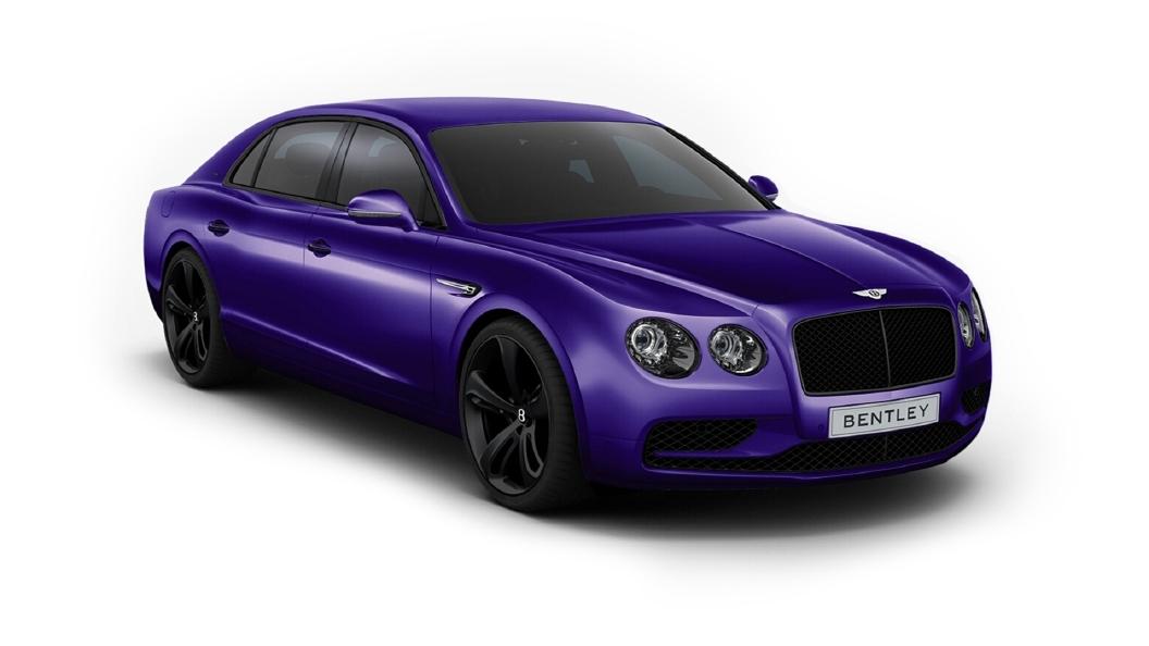 Bentley  Continental Flying Spur Azure Purple Colour