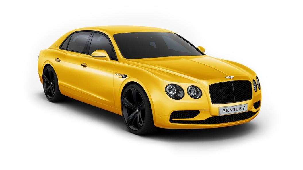 Bentley  Continental Flying Spur Monaco Yellow Colour