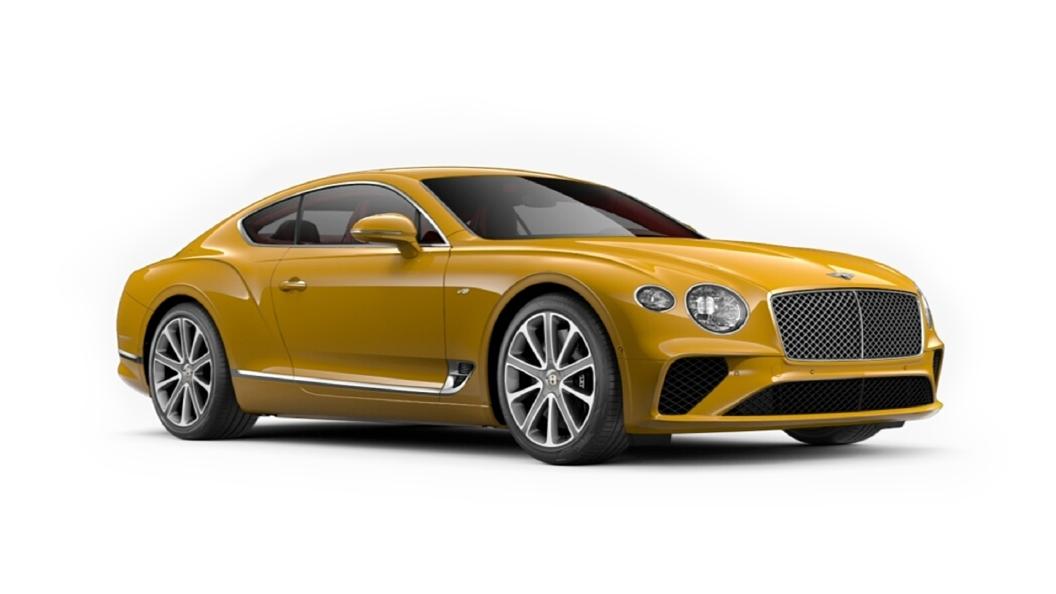 Bentley  Continental GT Monaco Yellow Colour
