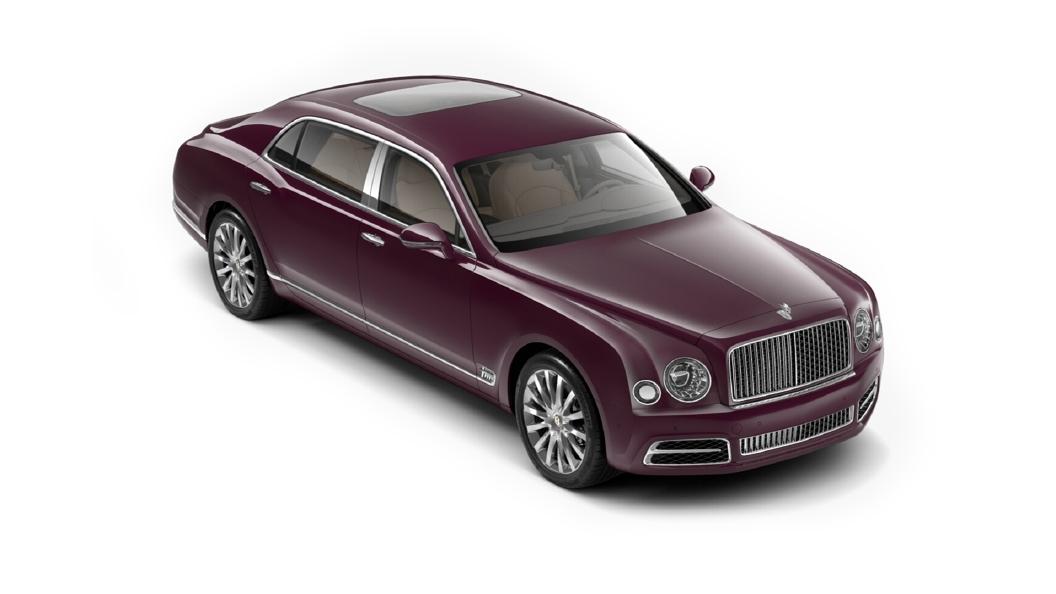 Bentley  Mulsanne Magenta Colour
