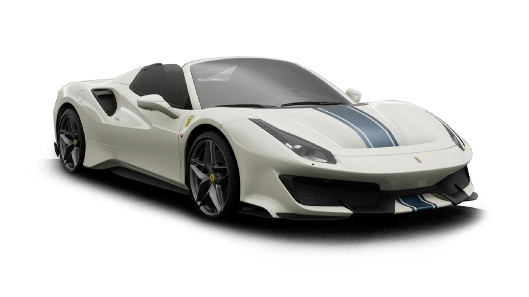 Ferrari  488 Bianco Avus Colour