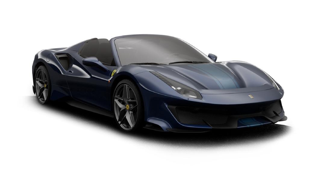 Ferrari  488 Blu Tour De France Colour