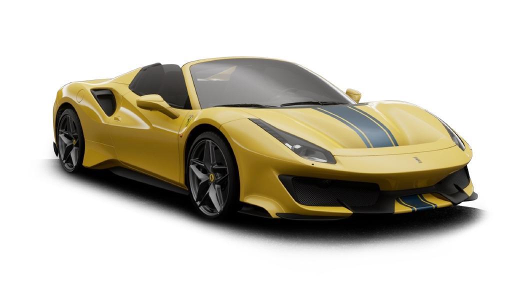 Ferrari  488 Giallo Modena Colour