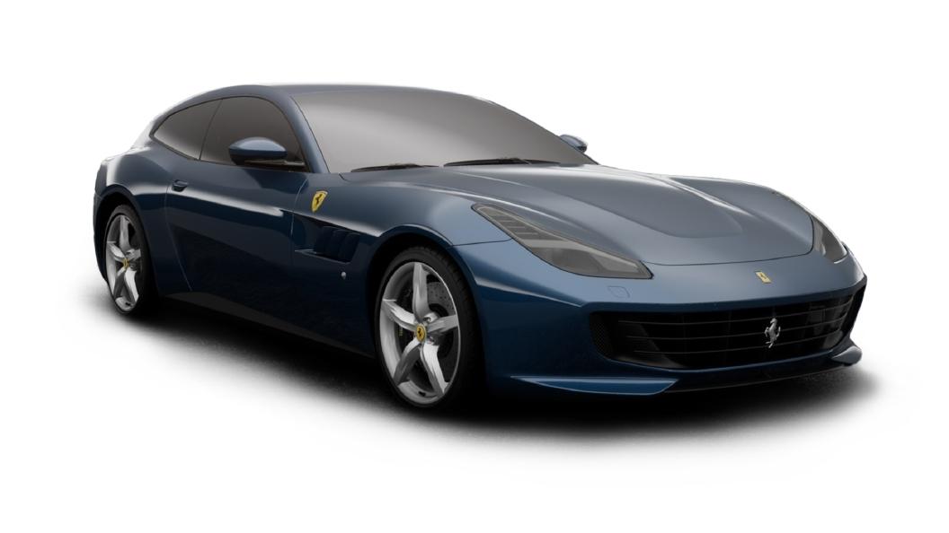 Ferrari  GTC4 Lusso Blue Abu Dhabi Colour