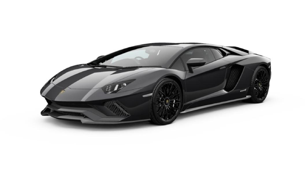 Lamborghini  Aventador Nero Pegaso Metallic Colour