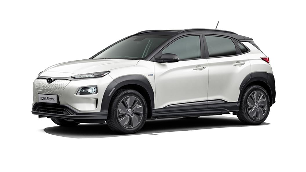 Hyundai  Kona Electric Polar White / Phantom Black Colour