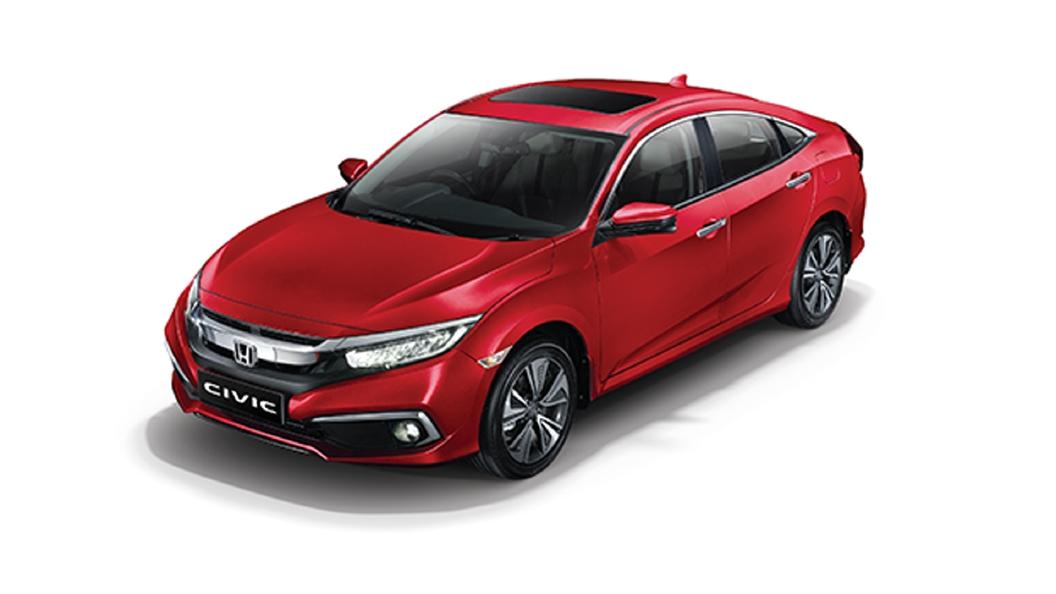Honda  Civic Radiant Red Metallic Colour