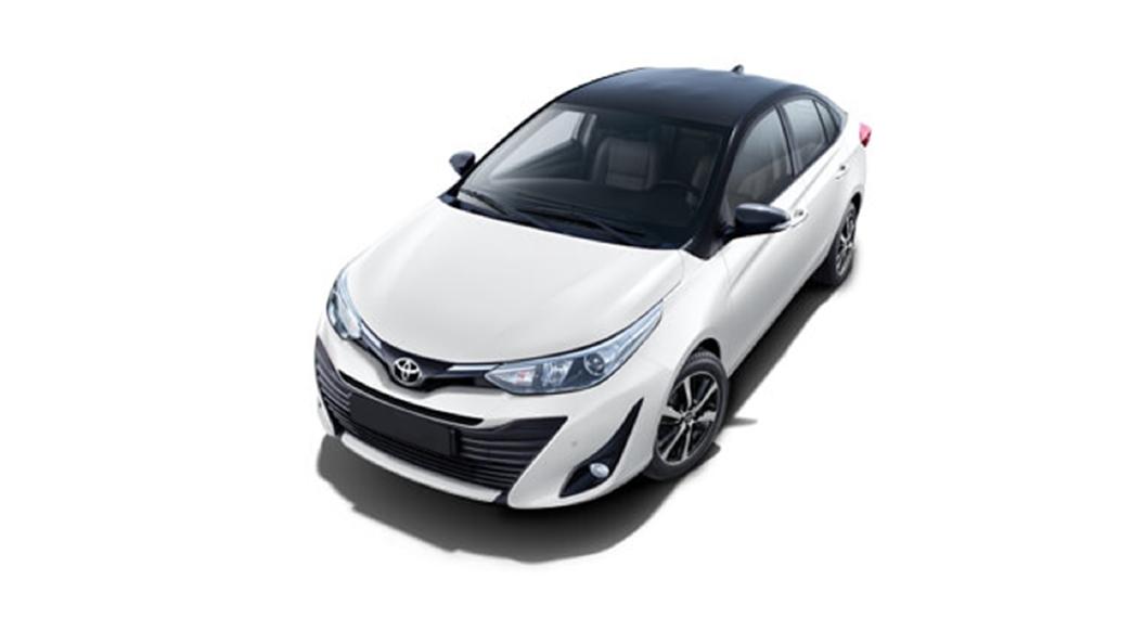 Toyota  Yaris Super White/Attitude Black Colour