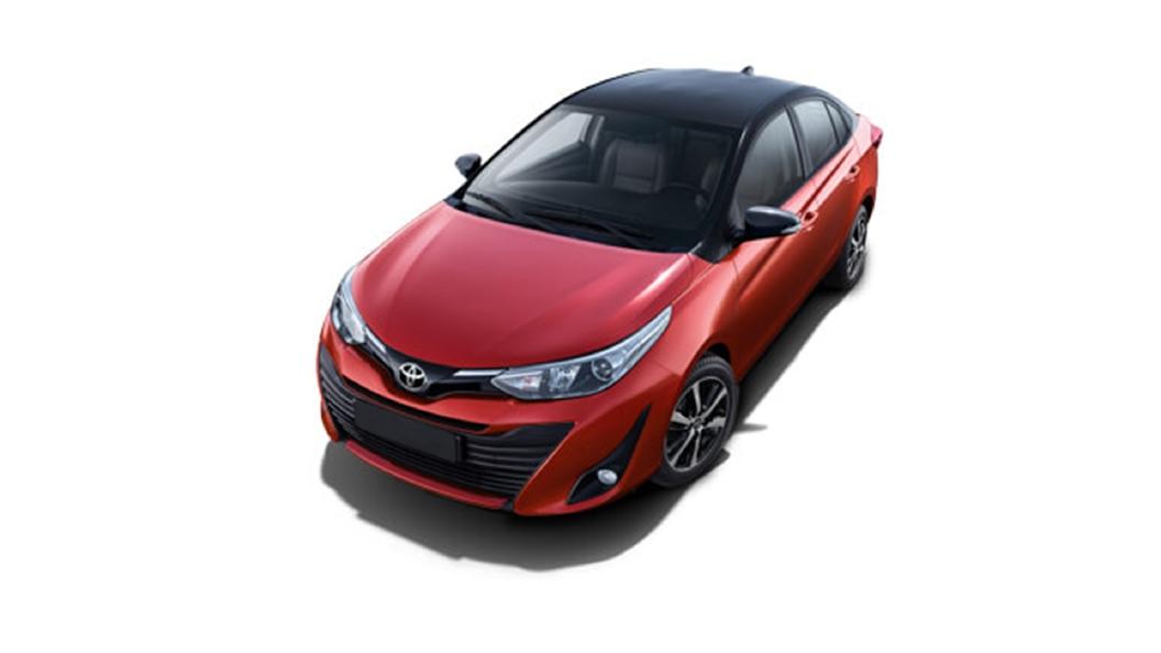 Toyota  Yaris Wildfire Red,Attitude Black Colour