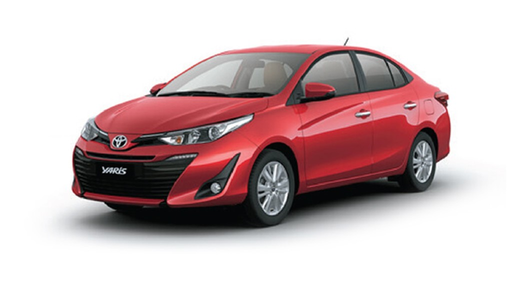 Toyota  Yaris Wildfire Red Colour