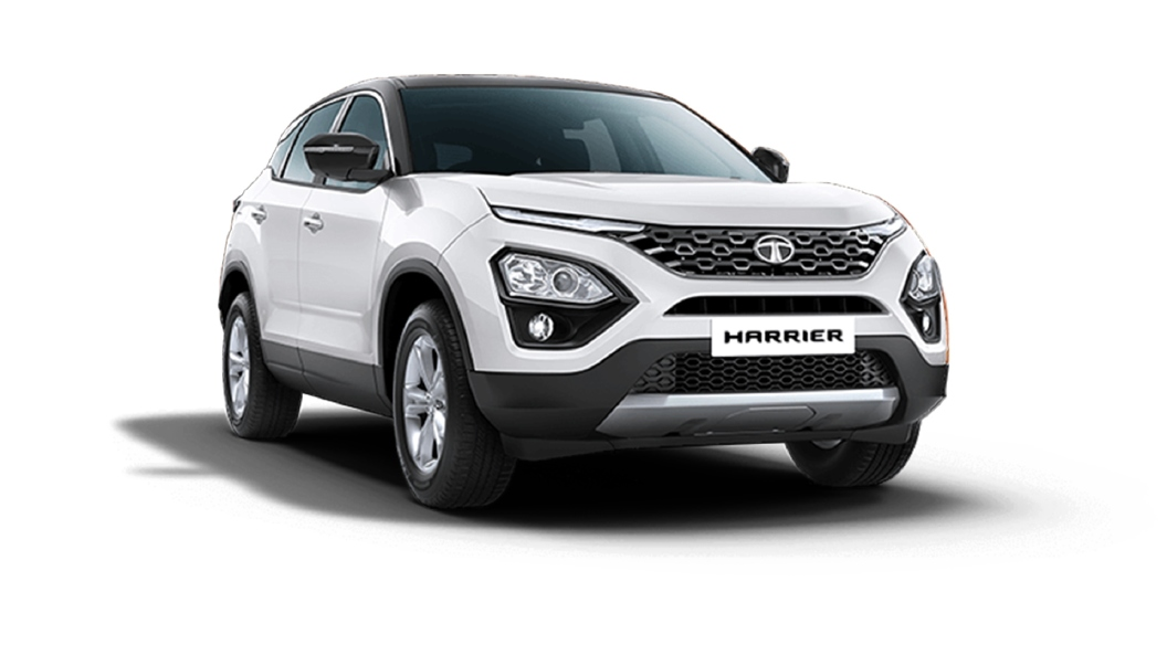 Tata  Harrier Orcus White / Black Colour