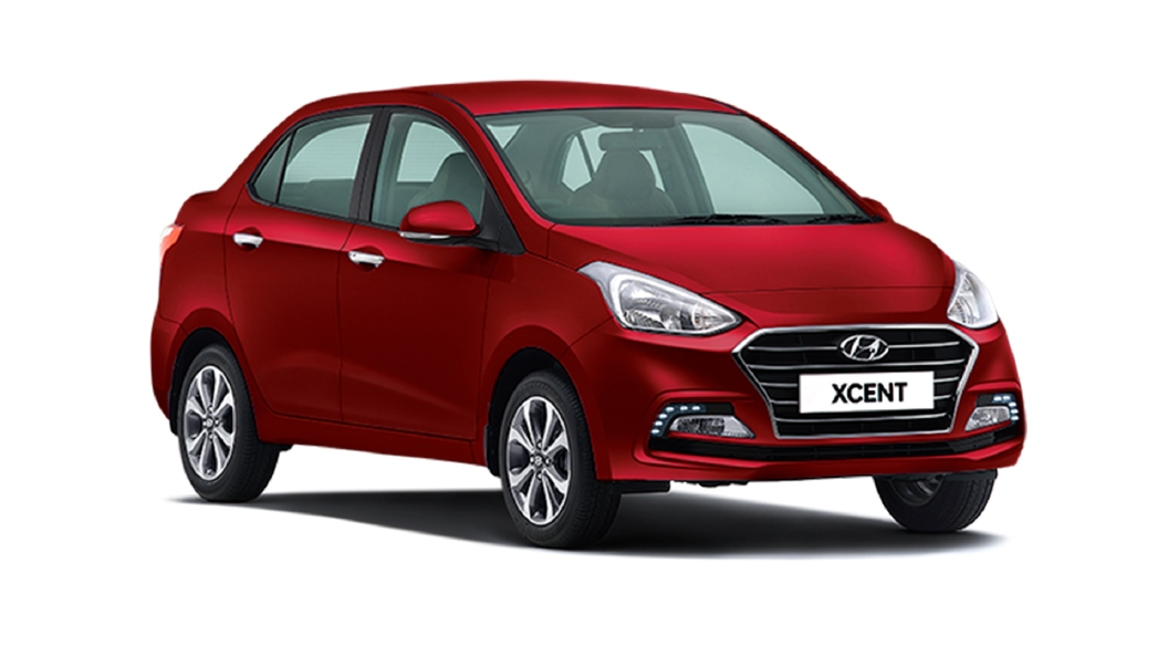 Hyundai  Xcent Fiery Red Colour