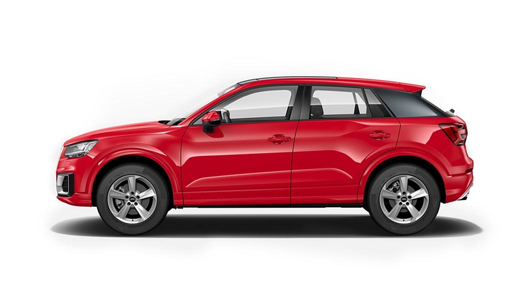 Audi  Q2 Tango Red Metallic Colour