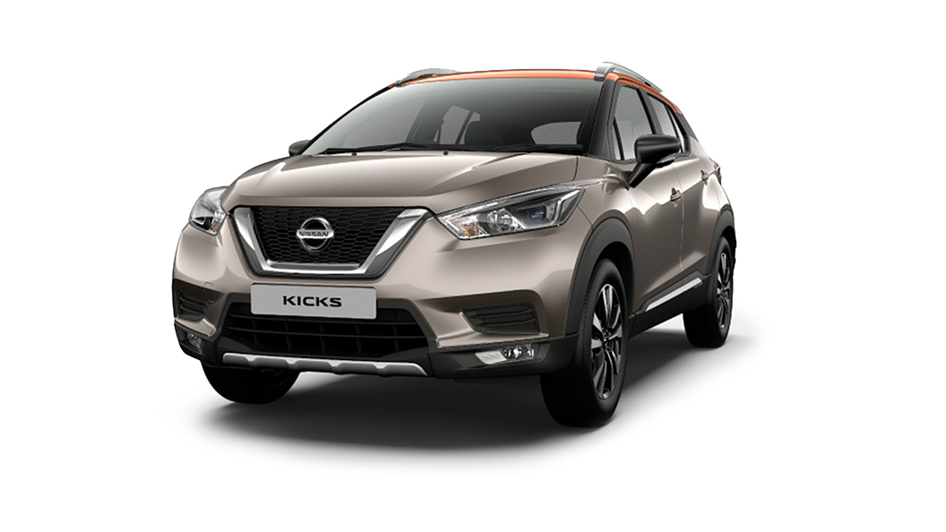 Nissan  Kicks Bronze Grey/Amber Orange Colour