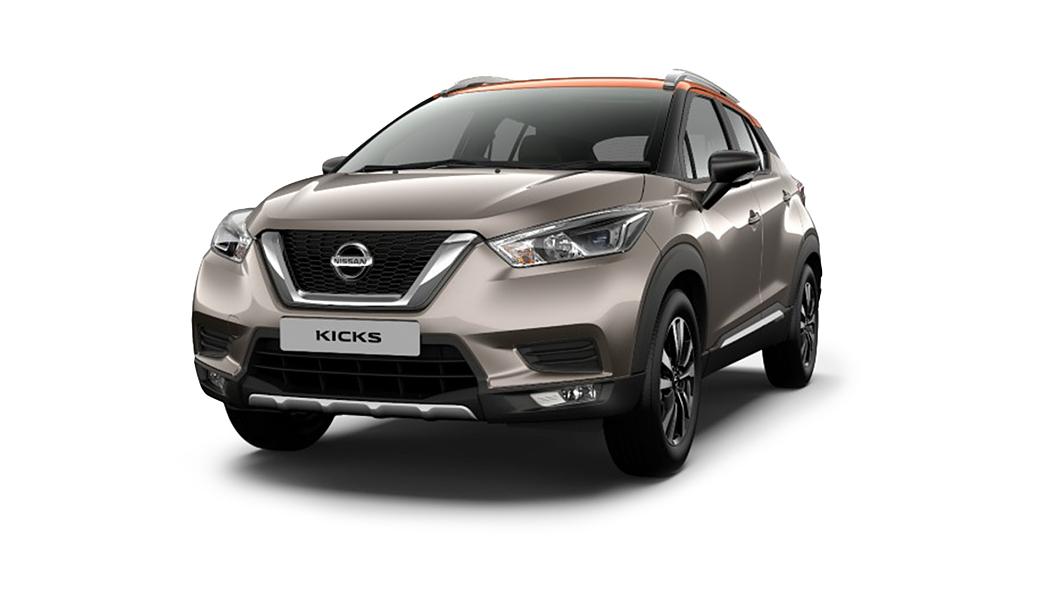 Nissan  Kicks Bronze Grey/Amber Orange Colour