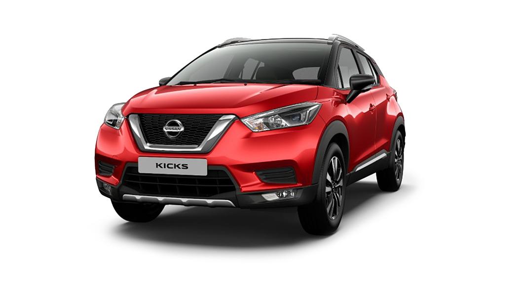 Nissan  Kicks Fire Red/Onyx Black Colour