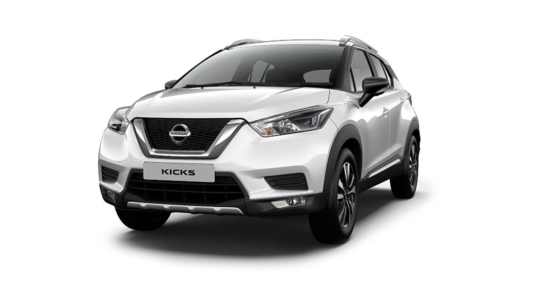 Nissan  Kicks Pearl White Colour