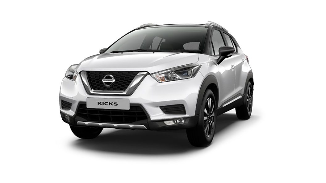 Nissan  Kicks Pearl White/Onyx Black Colour
