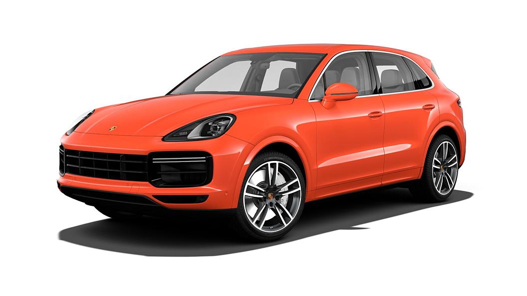 Porsche  Cayenne Lava Orange Colour