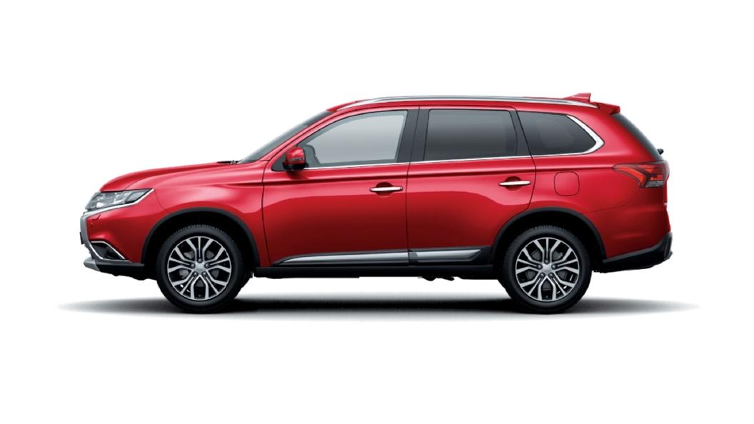 Mitsubishi  Outlander Orient Red Colour