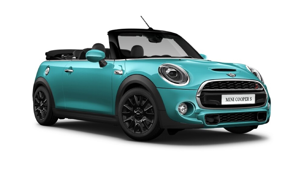 Mini  Cooper Convertible Caribbean Aqua Colour