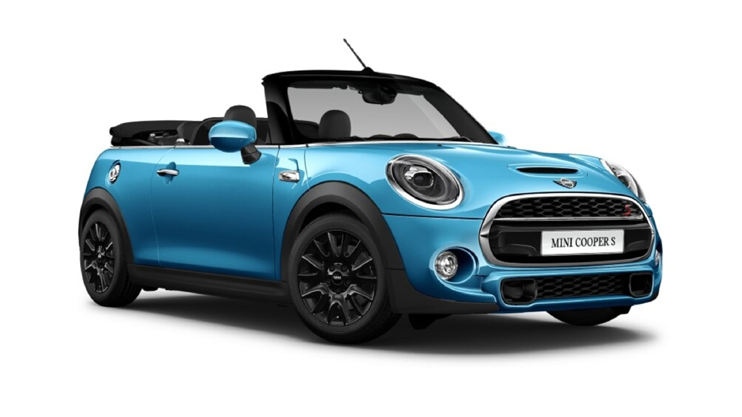 Mini  Cooper Convertible Electric Blue Metallic Colour