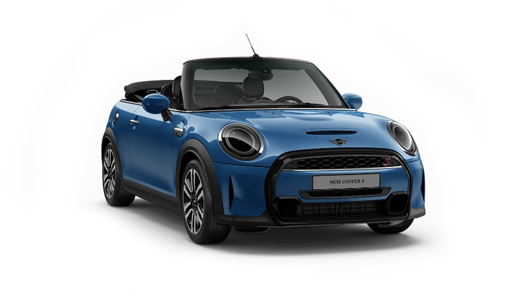 Mini  Cooper Convertible Island Blue Metallic Colour
