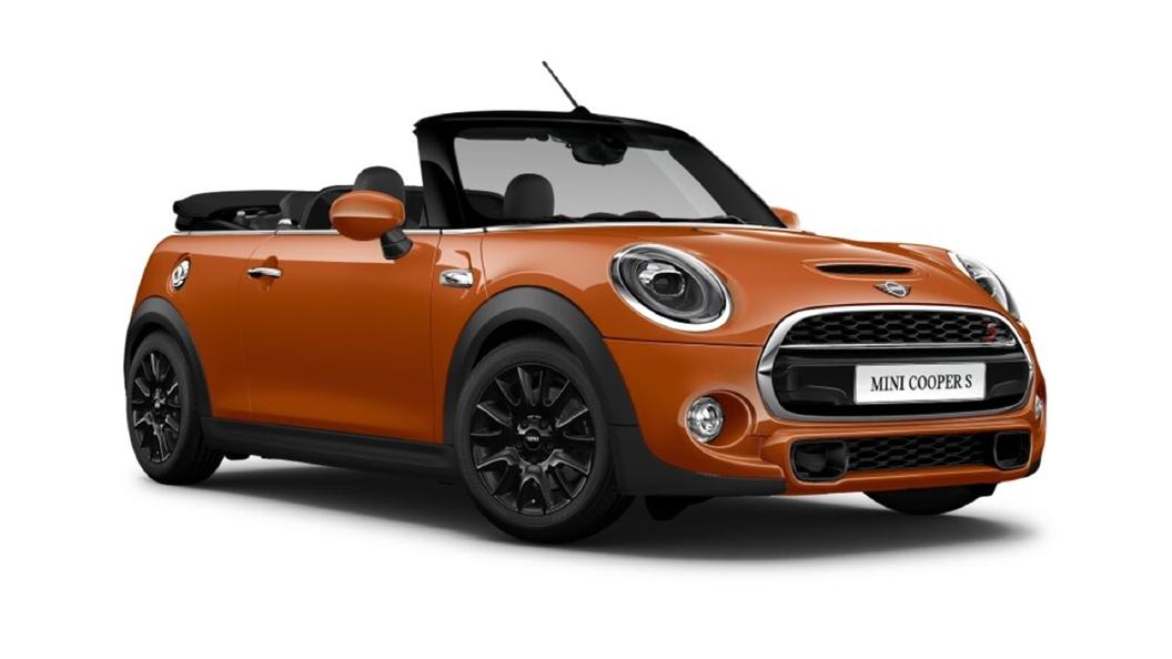 Mini  Cooper Convertible Solaris Orange Metallic Colour