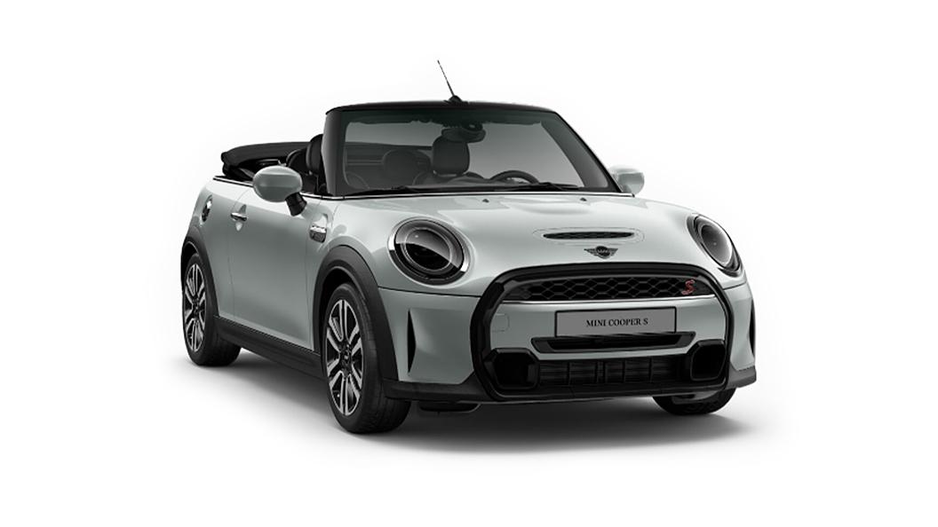 Mini  Cooper Convertible White Silver Metallic Colour