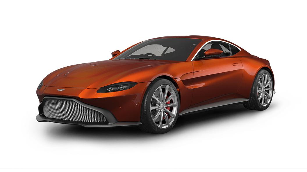 Aston Martin  V8 Vantage Cinnabar Orange Colour