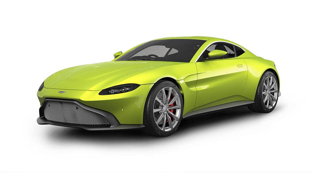 Aston Martin  V8 Vantage Lime Essence Colour