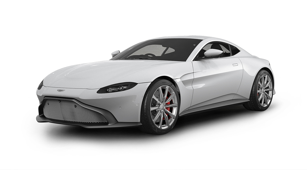 Aston Martin  Vantage Lunar White Colour