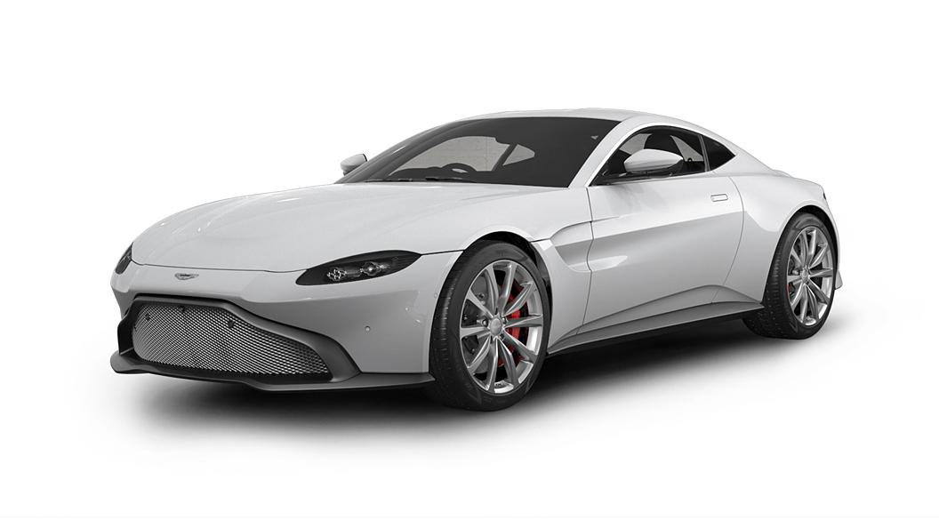 Aston Martin  V8 Vantage Lunar White Colour