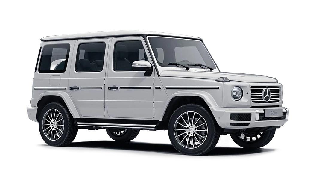 Mercedes Benz  G-Class Polar White Colour