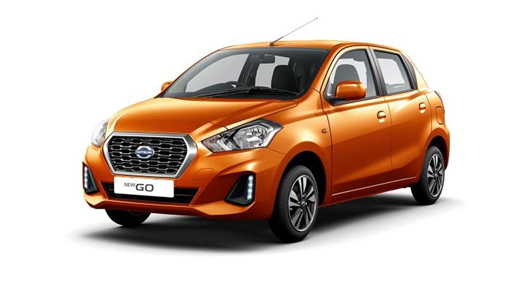 Datsun  GO Amber Orange Colour