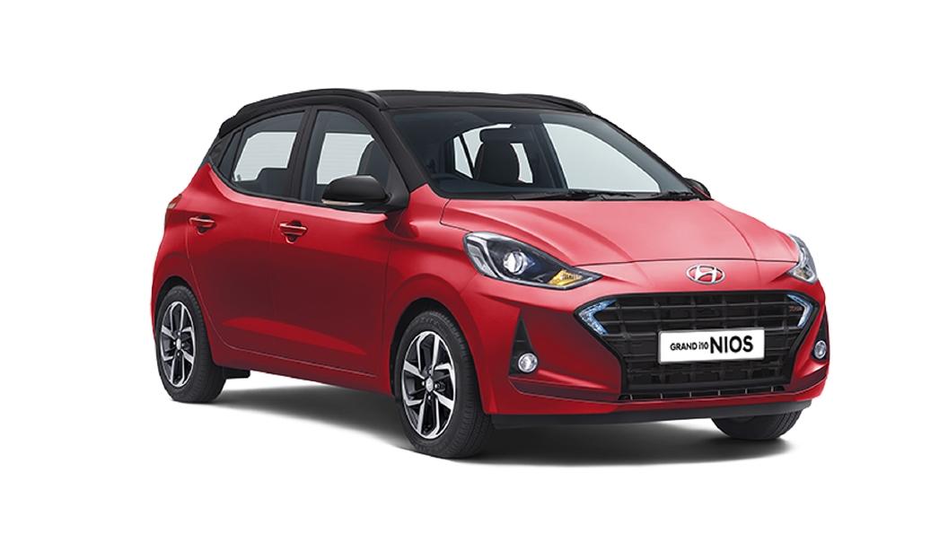Hyundai  Grand i10 Nios Fiery Red / Black Colour