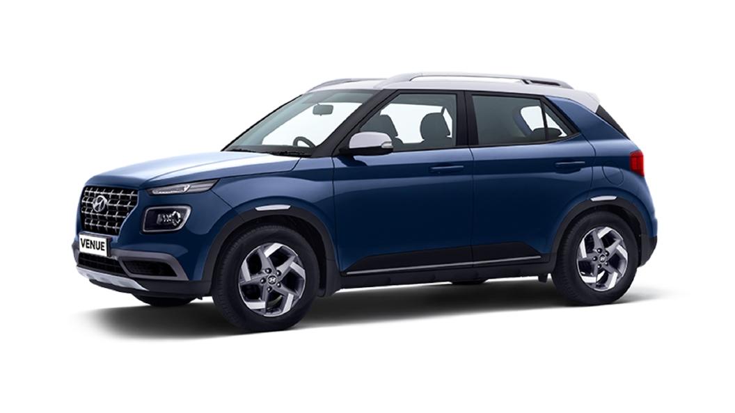 Hyundai  Venue Denim Blue / Polar White Colour