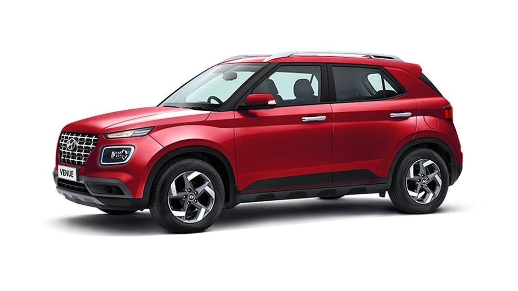 Hyundai  Venue Fiery Red Colour