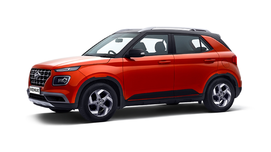 Hyundai  Venue Lava Orange / Phantom Black Colour