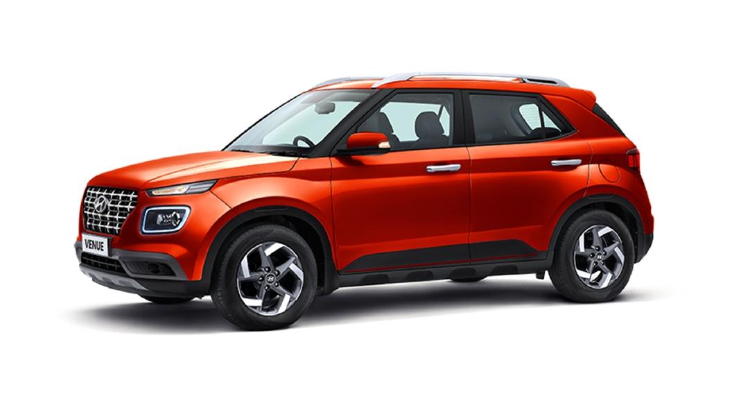 Hyundai  Venue Lava Orange Colour