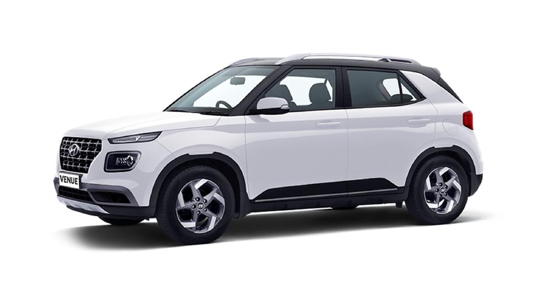 Hyundai  Venue Polar White / Phantom Black Colour