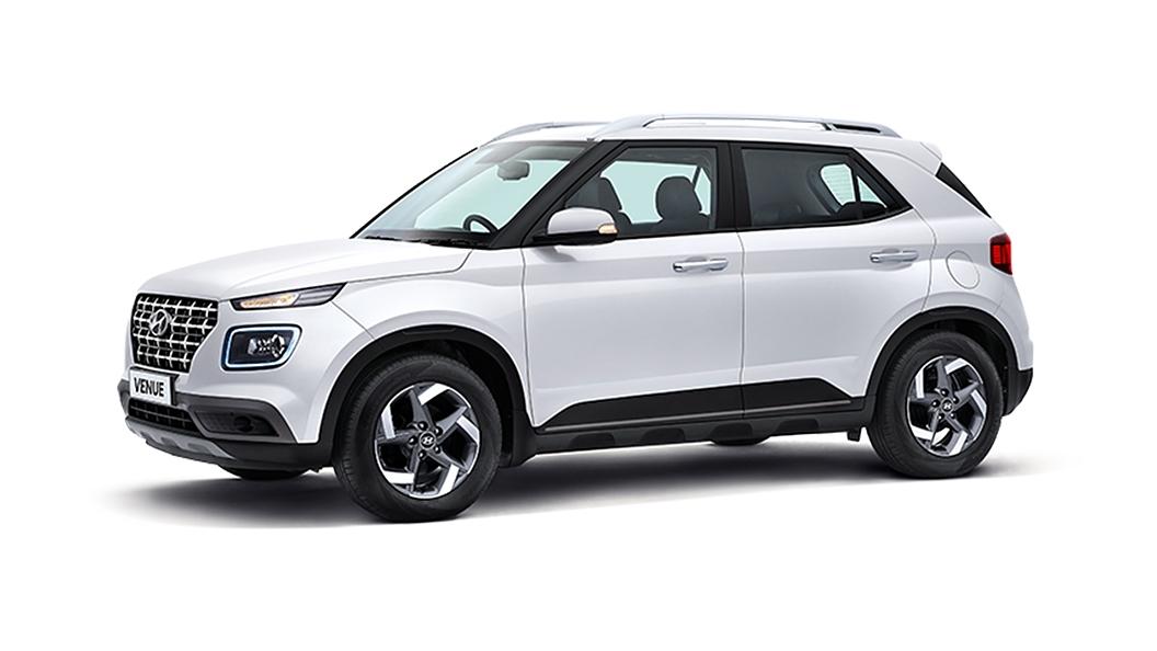 Hyundai  Venue Polar White Colour